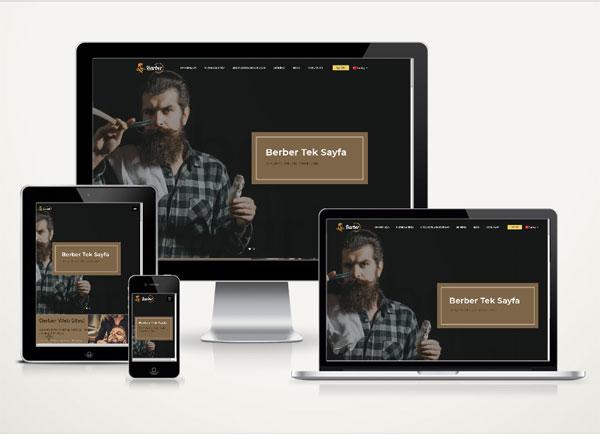 Berber Web Sitesi Onepage v4.0