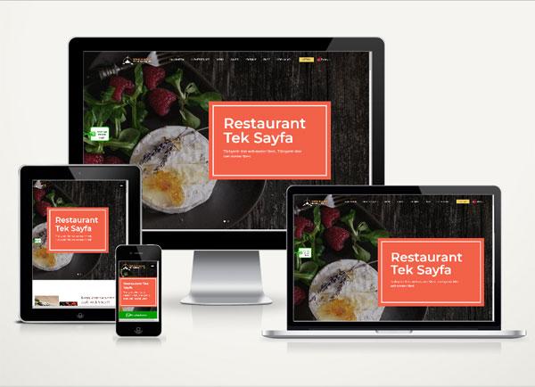 Restaurant Web Sitesi Onepage v4.0