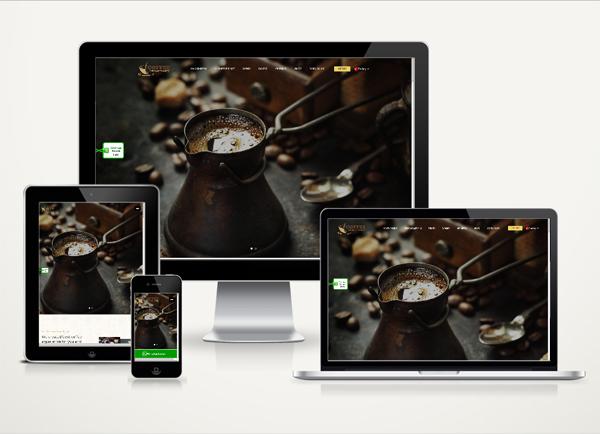 Cafe Web Sitesi Onepage v4.0