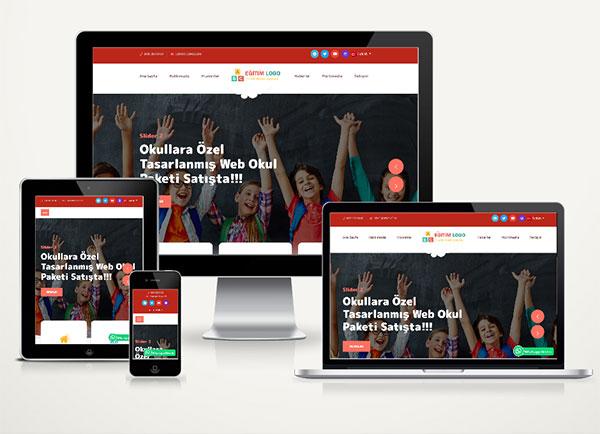 Kreş / Eğitim Kurumu  Web Sitesi Paketi Garten v4.5
